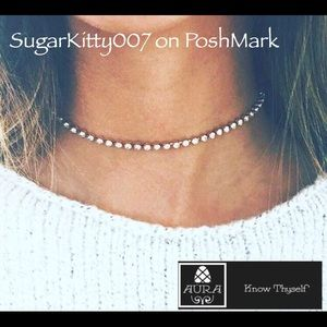 Dainty Simple Diamond Choker